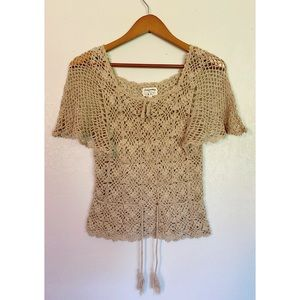 Vtg 90's Crochet Top